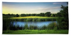 Farmland Waters Beach Towel