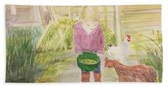Farm's Life  Beach Sheet by Annie Poitras
