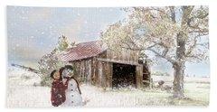 Farmstyle Snowman Beach Sheet