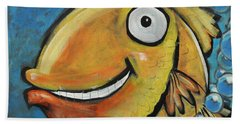 Farting Fish Beach Towel