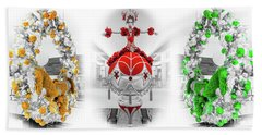Fashion Show Christmas Ornament Collection Beach Sheet