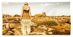 Fashioning A Granville Harbour Exploration Beach Towel