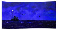 Fastnet Light Ireland Night Beach Sheet