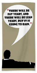 Fat Years - Mad Men Poster Don Draper Quote Beach Sheet