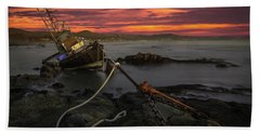 Fate Of The Point Estero Beach Towel