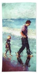 Father And Son Beach Towel