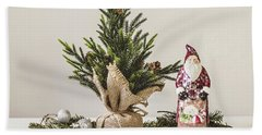 Beach Towel featuring the photograph Father Christmas by Kim Hojnacki