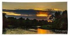 Father's Day Sunset Beach Towel by Robert Bales