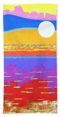 Fauvist Sunset Beach Towel by Jeremy Aiyadurai