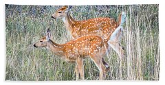 Fawns At Bigfork Beach Sheet