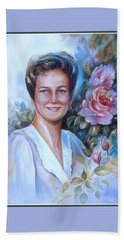 Beach Sheet featuring the painting Faye by Patricia Schneider Mitchell