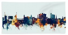 Fayetteville Arkansas Skyline Beach Towel by Michael Tompsett