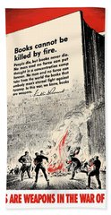 Fdr Quote On Book Burning  Beach Towel