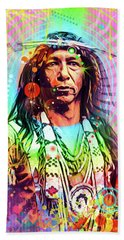 Feather Chief Beach Towel by Gary Grayson