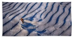Beach Towel featuring the photograph Feather In Sand by Michelle Calkins