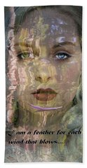 Feather In The River Beach Towel