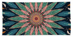 Feather Mandala IIi Beach Sheet