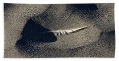 Feather On The Beach Beach Towel