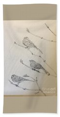 Feathers Friends Beach Towel
