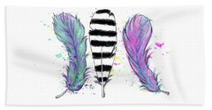 Feathers Beach Towel by Lizzy Love
