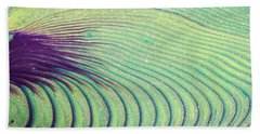 Feathery Ripples Beach Towel by Julie Clements