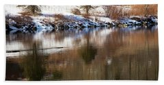 Beach Sheet featuring the photograph February Reflections by Karol Livote