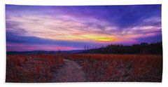 February Sunset And Path At Retzer Nature Center Beach Sheet by Jennifer Rondinelli Reilly - Fine Art Photography