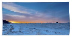 February Sunset Beach Sheet
