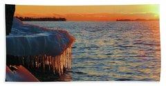 Feburary Sunset Cape Vincent Beach Towel