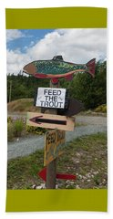 Beach Towel featuring the photograph Feed The Trout by Suzanne Gaff