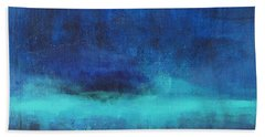 Beach Towel featuring the painting Feeling Blue by Nicole Nadeau