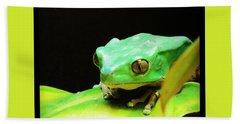 Feeling Froggy Beach Towel