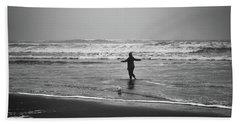 Feeling Her Joy Beach Towel