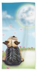 Feeling Love Beach Towel by Catia Cho