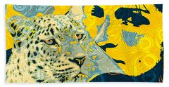 Feline Looks Beach Towel by Zedi