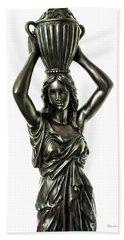 Female Water Goddess Bronze Statue 3288a Beach Sheet