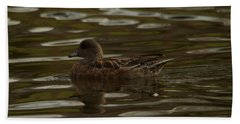 Beach Towel featuring the photograph Female Wigeon by Jeff Swan