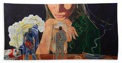 Femina Deciding Beach Towel by Lazaro Hurtado