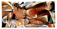Femme Cubiste Beach Sheet