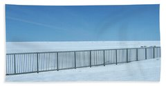 Fence In Snow Beach Sheet