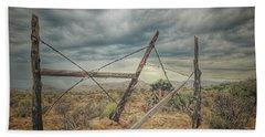 Fence Post Blues  Beach Towel