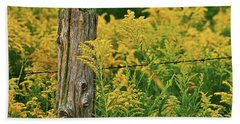 Fence Post7139 Beach Towel