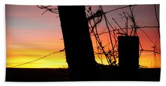 Fence Sunrise Beach Towel