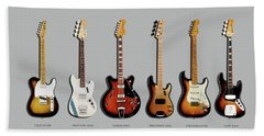Fender Guitar Collection Beach Towel