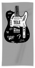 Fender Telecaster 58 Beach Towel by Mark Rogan