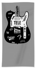 Fender Telecaster 64 Beach Towel by Mark Rogan