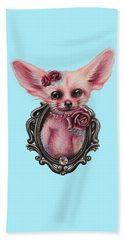 Beach Towel featuring the drawing Fennec Fox by Sheena Pike