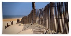 Fenwick Dune Fence And Shadows Beach Towel