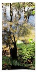 Fern Amidst The Mangroves Beach Towel
