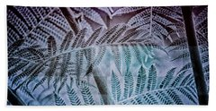 Beach Towel featuring the digital art Fern Forest by Mimulux patricia No